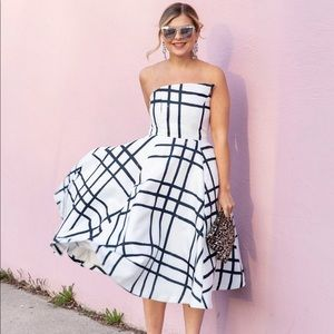 Chicwish grid print dress
